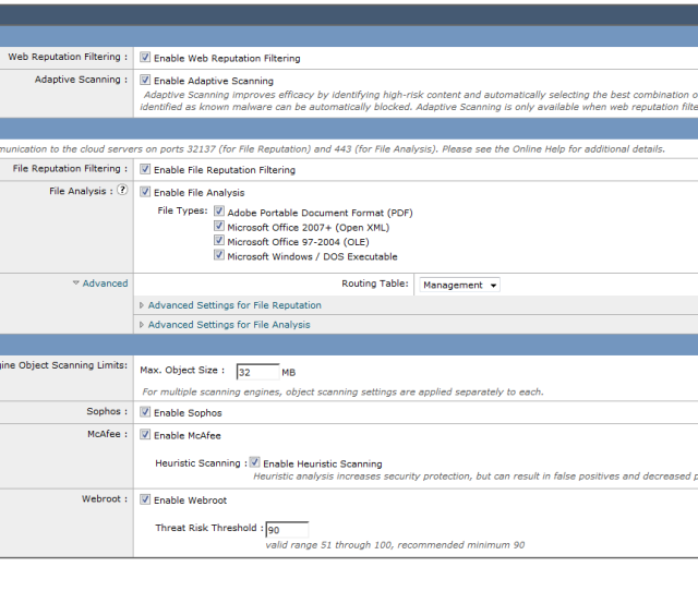 Screenshot Of Part Of One Screen From The Cisco Wsa Showing A Confusing